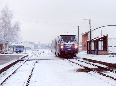 Neige en gare de Romorantin - Photo : Eliane